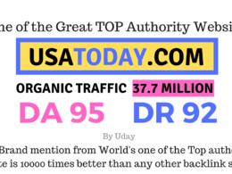 Mention your brand on Usatoday, USATODAY.com DA 95, DR92