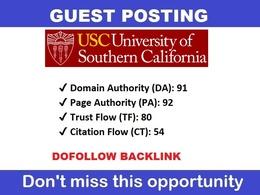 Guest post on California Edu University Blog - Usc.edu - DA 91