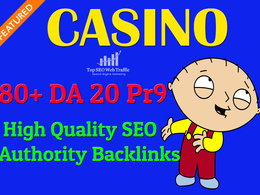 Provide 80+ DA 20 Pr9  Backlinks For Casino