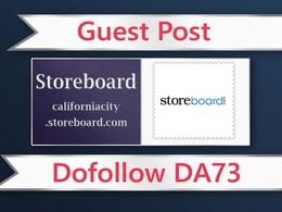 Do a guest post on storeboard da 73