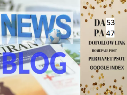 Publish Guest Post on da 53 dofollow news blog