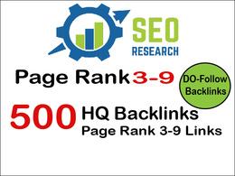 Do 500 do-follow PR 3-9 backlinks