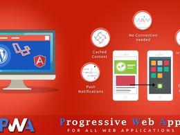 Develop PWA for any Wordpress/Angular/Laravel web applications
