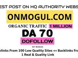 Publish a guest post on onmogul.com DA 70 Dofollow Link