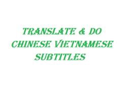 Do Transcription Subtitles Chinese Vietnamese Movie Video