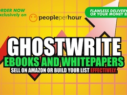✅ write High Quality EBooks, Whitepapers or Workbooks