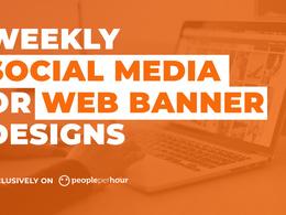 Design social media posts or web banner for your business