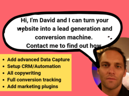 Turn your website into a lead generation and converting machine!