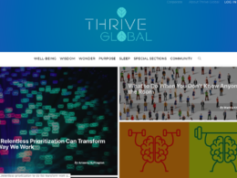 Provide a guest post on thriveglobal.com