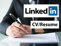 Write Resume, CV and LinkedIn profile for you