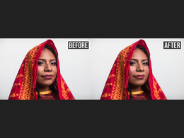 I can professionally retouch your portraits (5 photos)