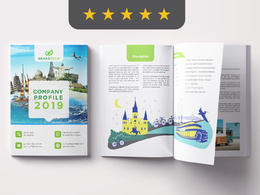 Create amazing company profile, annual report design