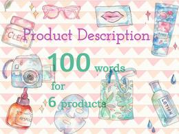 Catchy product descriptions