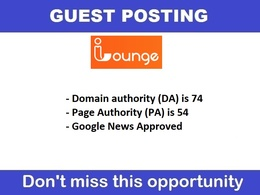 Write and guest post ilounge.com, ilounge DA 67, PA 56