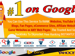 Rank 1 on google with white hat 30 days Premium SEO Service