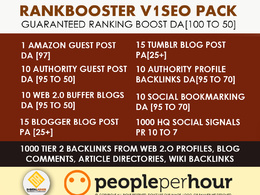 Rank Booster V1 SEO pack with Guaranteed Rank - DA[100 to 50]