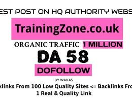 Guest post on TrainingZone.co.uk DA 58 Dofollow Link