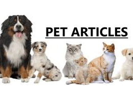 Write articles on PETS.