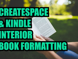 Do KDP Createspace, Kindle Interior Book Formatting and cover