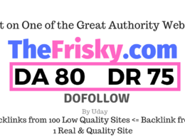 Publish a guest post on TheFrisky.com DA80, DR75