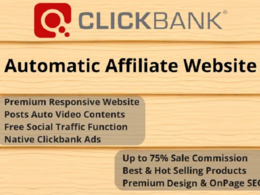Create Clickbank Affiliate Website For Passive Earnings