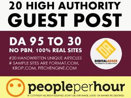 20 High Authority Guest Post DA[95-30] - [SITES UPDATED 2019]
