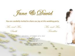 Design a custom  printable wedding invitation