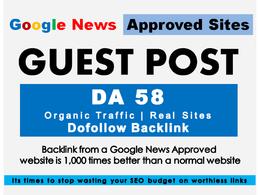 Write & Post On DR 58 Google News Approved Website Explosion.com