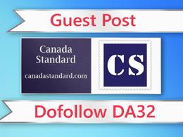 Guest post on Canada Standard - canadastandard.com - DA32