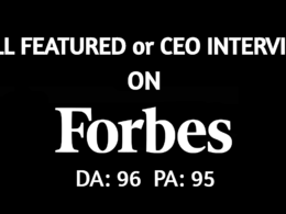 Help you land an INTERVIEW / FULL FEATURE on Forbes - Forbes.com