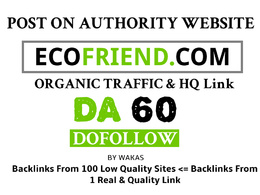 Guest Post on Ecofriend - Ecofriend.com DA 60 Dofollow Link