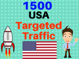 PROVIDE 1,500  USA WEB TRAFFIC VISITORS