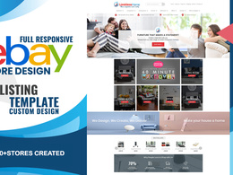 Design custom ebay store & active content free listing template