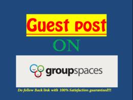 Publish Dofollow Guest Post On Groupspaces (DA-74)