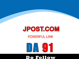 Guest post on jpost - Jpost.com, DA91, Dofollow Backlink