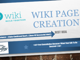 Create you a Wikipedia Page - approval guaranteed