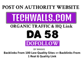Publish Guest Post on Techwalls.com DA 58 DoFollow Link