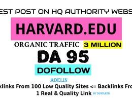 Write & Guest Post On My Harvard Edu University Blog harvard.edu