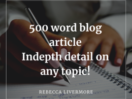 Write an excellent 500 word blog article on any topic