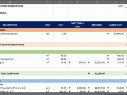 Prepare Bill of Quantity and Cost Estimation