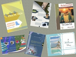 Design your magazine,book,leaflet,poster or book cover (4 pages)