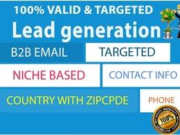 Provide 100 any linkd of leads like business email-company info