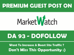 Publish a guest post on Marketwatch, Marketwatch.com DA93