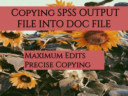 Copying SPSS file into word document