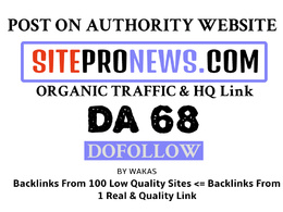 Publish Guest Post on sitepronews.com DA 68 Dofollow Link