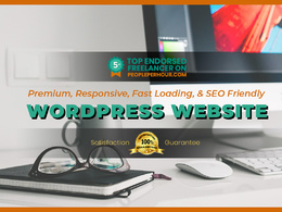 Create premium, responsive, & SEO friendly wordpress website