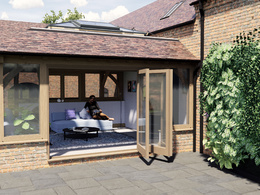 Design your traditional oak framed orangery/garden room in 3D
