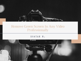 Edit your raw footage into a high quality video