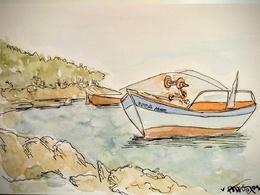 Draw a unique hand drawn watercolour illustration