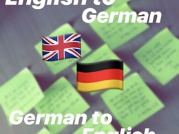 Translate 600 words from English to German and vice versa